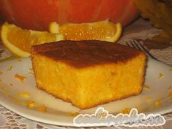 Творожная запеканка с тыквой и апельсином
