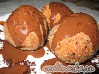 Творожные шарики с шоколадной начинкой