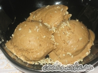 Творожное мороженое с кофейно-банановым вкусом