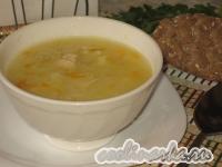 Суп с курицей и пшеном
