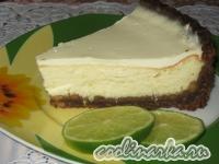 Творожный пирог с лаймом (чизкейк с лаймом)